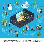 isometric photography... | Shutterstock .eps vector #1109538602