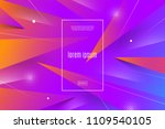 abstract vector multicolored... | Shutterstock .eps vector #1109540105