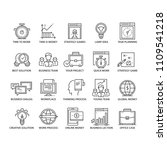 business icons set. line thin... | Shutterstock .eps vector #1109541218