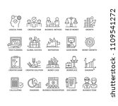 business icons set. line thin... | Shutterstock .eps vector #1109541272