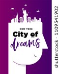 creative new york city poster... | Shutterstock .eps vector #1109541902