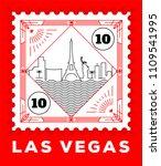 las vegas city line style... | Shutterstock .eps vector #1109541995