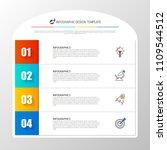 infographic design template.... | Shutterstock .eps vector #1109544512
