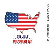 4th of july. happy independence ... | Shutterstock .eps vector #1109549708