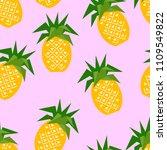 seamless pineapple geometric... | Shutterstock .eps vector #1109549822