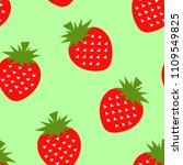 seamless strawberry geometric...   Shutterstock .eps vector #1109549825
