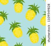 seamless pineapple geometric...   Shutterstock .eps vector #1109549828