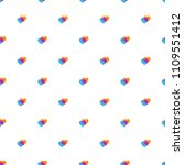 background with little hearts... | Shutterstock . vector #1109551412