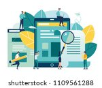 vector flat illustration ... | Shutterstock .eps vector #1109561288