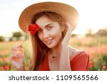 close up portrait of lovely... | Shutterstock . vector #1109565566