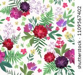 flowers seamless pattern hand... | Shutterstock .eps vector #1109567402