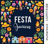 festa junina  brazilian june... | Shutterstock .eps vector #1109574188
