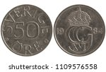 fifty swedish ore  1984.... | Shutterstock . vector #1109576558