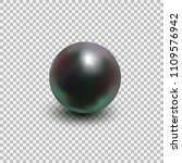 beautiful black shiny sea pearl.... | Shutterstock .eps vector #1109576942