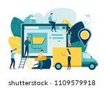 vector illustration  flat style ... | Shutterstock .eps vector #1109579918