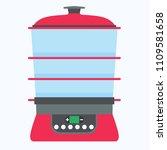 steamer food icon vector cook... | Shutterstock .eps vector #1109581658