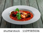 delicious italian tomato... | Shutterstock . vector #1109585036