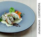 delicious meat steak medallions ... | Shutterstock . vector #1109585096