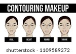 contouring makeup for different ... | Shutterstock .eps vector #1109589272