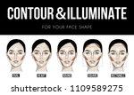 contouring   illuminate makeup... | Shutterstock .eps vector #1109589275