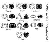 gemstones vector gem cut... | Shutterstock .eps vector #1109589602