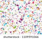 carnaval or festival confetti....   Shutterstock .eps vector #1109591066