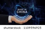 painted hand shows concept...   Shutterstock . vector #1109596925