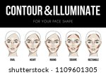 contouring   illuminate makeup... | Shutterstock .eps vector #1109601305