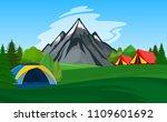 vector mountain camping...   Shutterstock .eps vector #1109601692