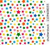 colorful festive starry... | Shutterstock .eps vector #1109608055