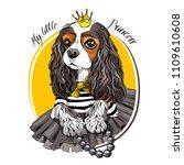 cavalier king charles spaniel... | Shutterstock .eps vector #1109610608