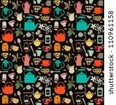 seamless pattern background... | Shutterstock .eps vector #110961158