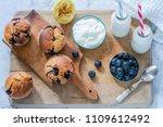 homemade blueberry and lemon... | Shutterstock . vector #1109612492