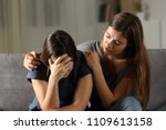 teen comforting hes sad friend... | Shutterstock . vector #1109613158