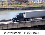 black stylish big rig american...   Shutterstock . vector #1109615312