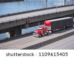 big rig red classic american... | Shutterstock . vector #1109615405