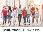 happy milennials friends... | Shutterstock . vector #1109616146