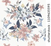 floral pattern with realistic... | Shutterstock .eps vector #1109635595