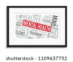 mental health picture frame... | Shutterstock .eps vector #1109637752