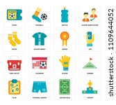 set of 16 icons such as podium  ...