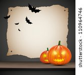 halloween background with... | Shutterstock .eps vector #110964746