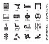 set of 16 icons such as closing ...