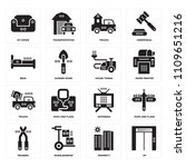 set of 16 icons such as up ...