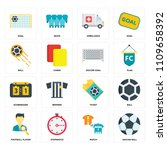 set of 16 icons such as soccer...