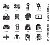 set of 16 icons such as single  ...