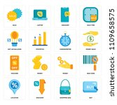 set of 16 icons such as buy ...