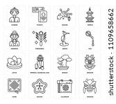 set of 16 icons such as dragon  ... | Shutterstock .eps vector #1109658662