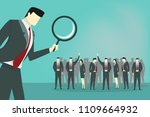 business man use magnifying...   Shutterstock .eps vector #1109664932
