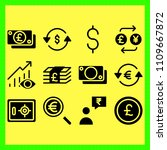 business icons set of american  ...