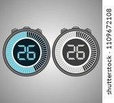 electronic digital stopwatch.... | Shutterstock .eps vector #1109672108